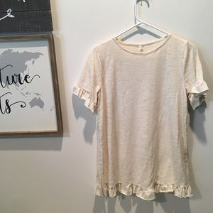 Tops - NWT Called to Surf Short Sleeve with Ruffles